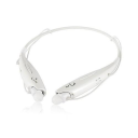 Water-Resistant Behind-the-Neck Bluetooth Stereo Headset / White