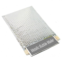 """Glamour Bubble Mailers - 7"""" x 6.75"""" - Metallic Silver - 250 Pieces = 1 Case"""