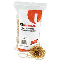 """Universal 2-1/2"""" x 1/16"""" Size #16 Rubber Bands  1 lb. Pack"""