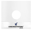 """200 CheckOutStore Paper Record With Hole for 12"""" Vinyl 33 RPM (Inner Sleeves)"""