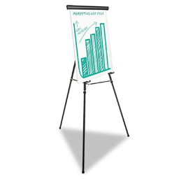 """Universal One 43034 Heavy Duty 69"""" H Presentation Easel Stand  Black"""