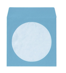 100g Blue Color Paper Sleeves CD/DVD Window with Flap - 100
