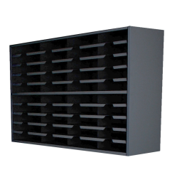 """Marvel 48"""" W 40-Compartment Steel Mail Sorter"""