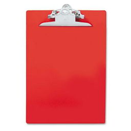 """Saunders 1"""" Capacity 8-1/2"""" x 12"""" Recycled Plastic Clipboard  Red"""