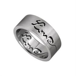 Finger Ring Stainless Steel with the word Love