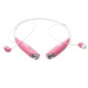 Water-Resistant Behind-the-Neck Bluetooth Stereo Headset / Pink