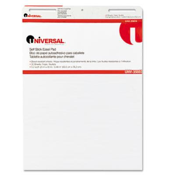 """Universal One Self-Stick 25"""" x 30""""  30-Sheet  2-Pack  Unruled Easel Pads"""