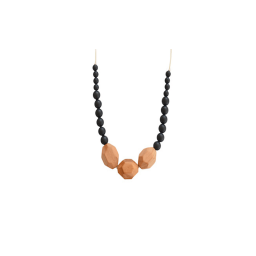 The Austin Teething Necklace - Black