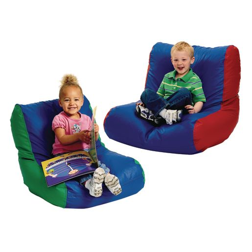 Toddler High-Back Beanbag Chair - Red/Blue