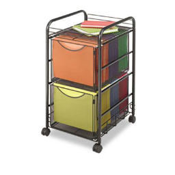 Safco Onyx Mesh Mobile Double File Cart