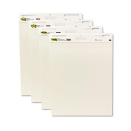 """Post-it Self-Stick 25"""" x 30""""  30-Sheet  4-Pack  Unruled Easel Pads"""