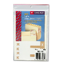 """Smead 3-1/8"""" x 1-5/32"""" Letters """"K & X"""" Color-Coded First Letter Combo Labels  Light Brown  100/Pack"""