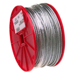 """Campbell Chain 700-0627 Uncoated Cable ~ 3/16"""" x 250 Ft"""
