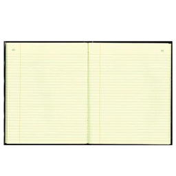 """National Brand 8-3/8"""" x 10-3/8"""" 150-Page Texhide Account Book  Black/Burgundy Cover"""