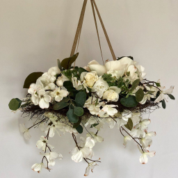 Large Floral Mobile - White