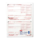 """TOPS 8-1/2"""" x 5-1/2"""" 6-Part Carbonless W-2 Tax Form  50-Forms"""