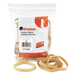 """Universal 3-1/2"""" x 1/4"""" Size #64 Rubber Bands  1/4 lb. Pack"""