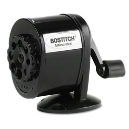 Stanley Bostitch Antimicrobial Mountable Manual Pencil Sharpener  Black