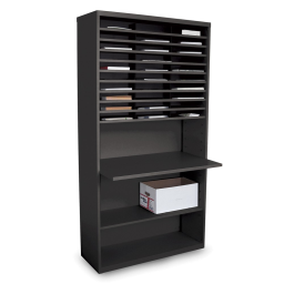 """Marvel 80"""" H 30-Compartment Multifunction Steel Mail Sorter Cabinet"""