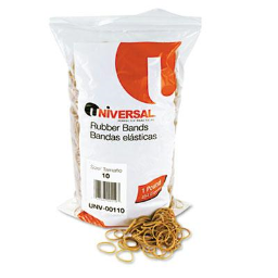 """Universal 1-1/4"""" x 1/16"""" Size #10 Rubber Bands  1 lb. Pack"""