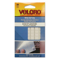 Velcro Removable Sticky Fix Tak  White  84 Squares/Pack