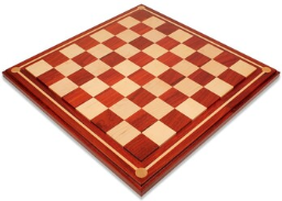 """Mission Craft African Padauk & Maple Solid Wood Chess Board - 2"""" Squares"""