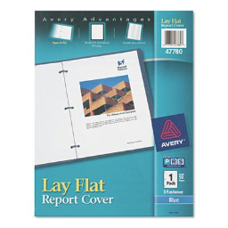 """Avery 1/2"""" Capacity 8-1/2"""" x 11"""" Flex Fastener Poly Report Cover  Blue"""