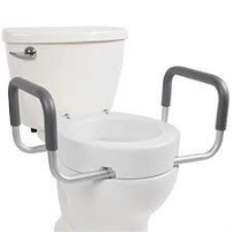 Toilet Seat Riser With Removable Arms, Standard