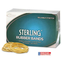 """Alliance 5"""" x 5/8"""" Size #105 Sterling Ergonomically Correct Rubber Bands  1 lb. Box"""
