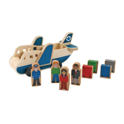 Wooden Airplane Playset