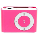 Mini Shuffling MP3 Player with USB Cable and Headphones / Pink