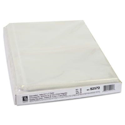"""C-Line 8-1/2"""" x 11-1/4"""" 3-Hole Punched Clear 4-Photo Holders  50/Box"""