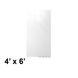 Ghent Aria 4' W x 6' H Colored Magnetic Glass Whiteboard