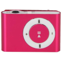 Mini Shuffling MP3 Player with USB Cable and Headphones / Red