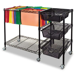 Advantus Mobile File Cart with Drawers