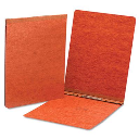"""Smead 2"""" Capacity 8-1/2"""" x 11"""" Prong Fastener End Opening Pressboard Report Cover  Red"""