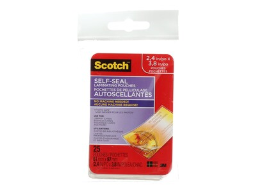 Scotch(tm) Self-Sealing Laminating Pouches, Business Card size, 25 Pouches (LS851G)