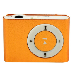Mini Shuffling MP3 Player with USB Cable and Headphones / Orange