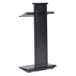 Mayline Peripherals Height Adjustable Lighted Mobile Lectern  Black