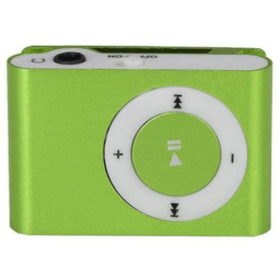 Mini Shuffling MP3 Player with USB Cable and Headphones / Green