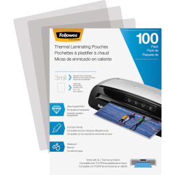Fellowes 3 Mil Letter-Size Laminating Pouches  100/Pack
