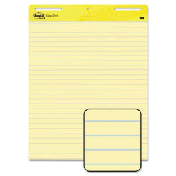 """Post-It Self-Stick 25"""" X 30""""  30 Sheet  2-Pack  Ruled Easel Pads"""