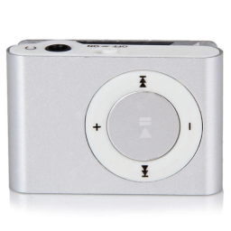 Mini Shuffling MP3 Player with USB Cable and Headphones / Silver