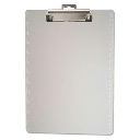 """Officemate 1/2"""" Capacity 8-1/2"""" x 11"""" Ruler Marked Plastic Clipboard  Clear"""