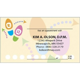 Medical Arts Press(r) Podiatry Full-Color Appointment Cards; Dance Steps