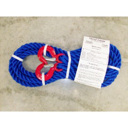 """Triple S Rope  TS-6.25HH15 Polypropylene Hook x Hook Tow Rope, 6,250 Lb ~ 5/8"""" x 15 Ft."""