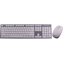 Impecca Wireless Keyboard and Mouse Combo / White/Gray