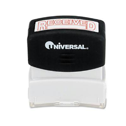 """Universal """"Received"""" Pre-Inked Message Stamp  Red Ink"""