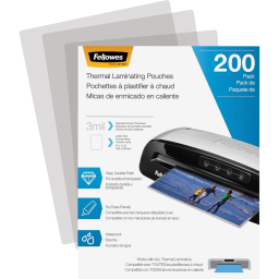 Fellowes 3 Mil Letter-Size Laminating Pouches  200/Pack