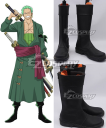 One Piece Roronoa Zoro Black Shoes Cosplay Boots